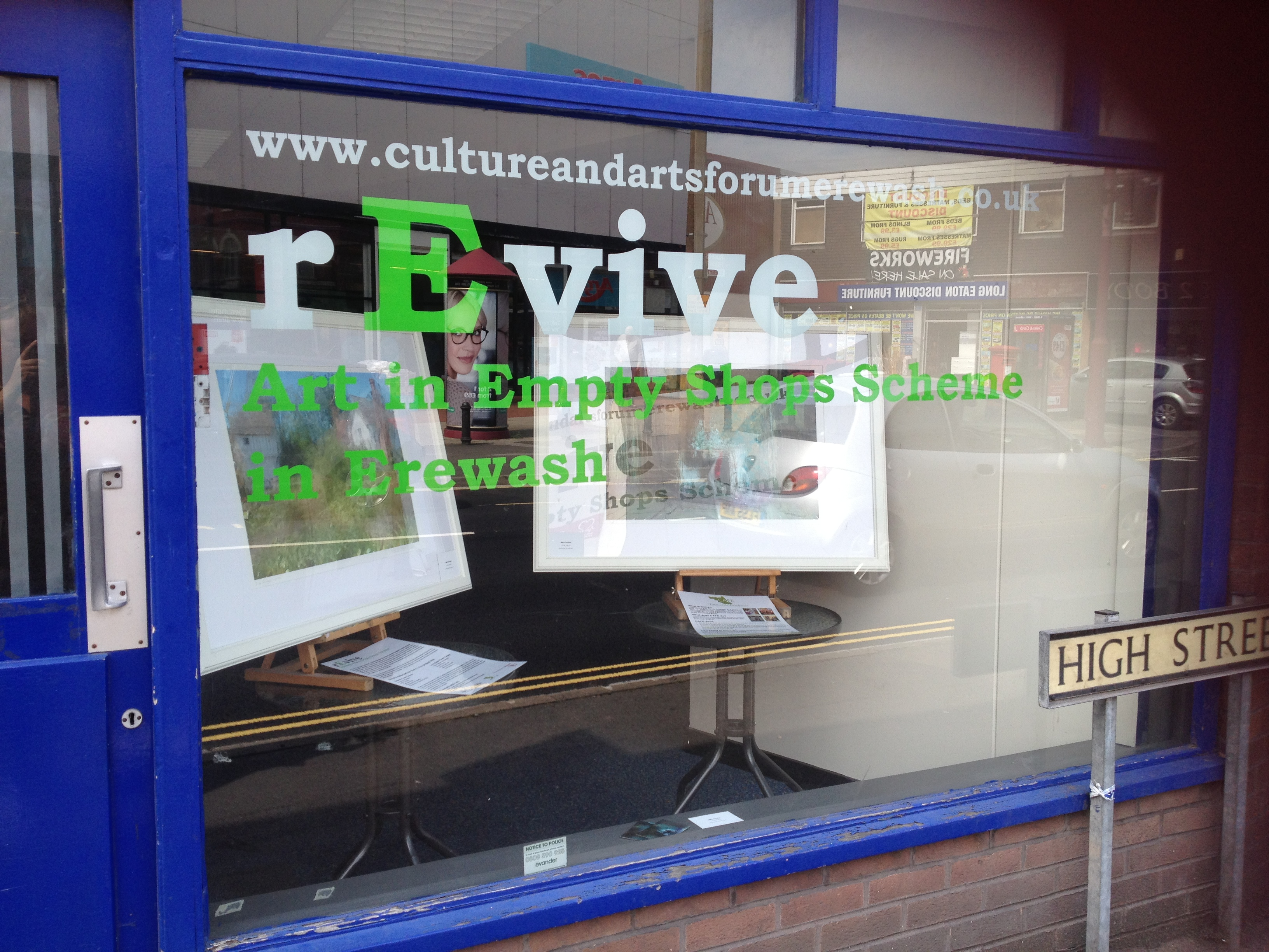 rEvive, art in empty shops